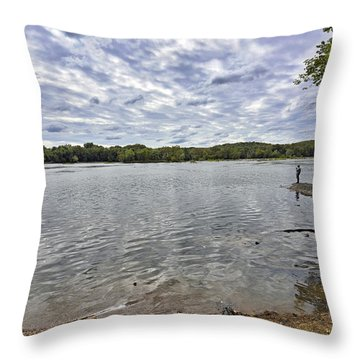 On The Banks Of The Potomac River Throw Pillow