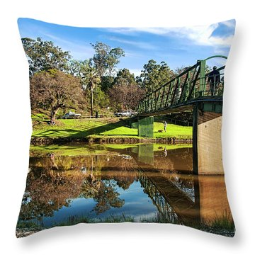 Throw Pillow featuring the photograph On The Banks Of The River By Kaye Menner by Kaye Menner