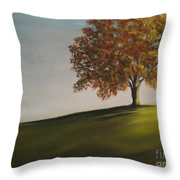 On The Bike Trail Throw Pillow by Carol Sweetwood