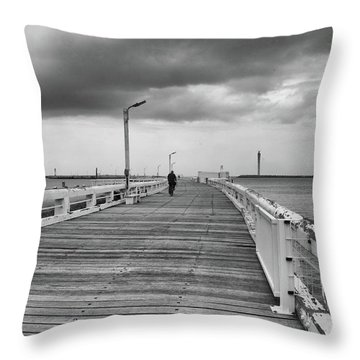 On The Boardwalk 2 Throw Pillow
