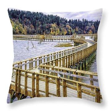 On The Boardwalk  Throw Pillow by Jean OKeeffe Macro Abundance Art