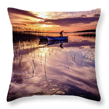On The Boat Throw Pillow