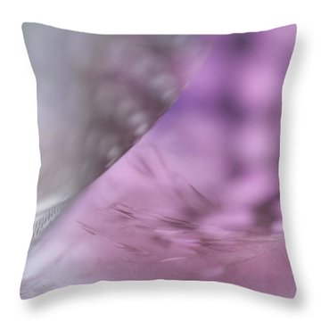 Throw Pillow featuring the photograph On The Brink Of A Foul. Angels Flight Series by Jenny Rainbow