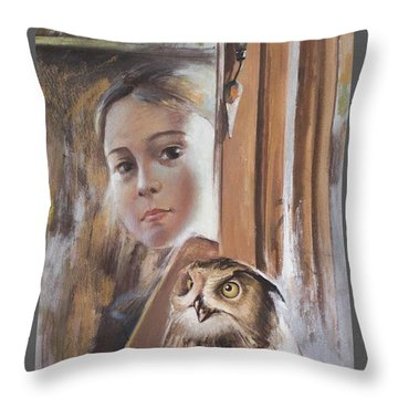 On The Brink Of Adulthood Throw Pillow