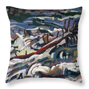 On The Brink Of Grande Chute Throw Pillow