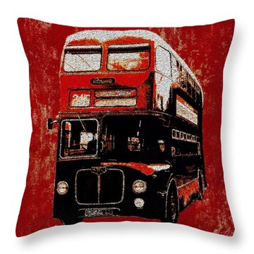 Throw Pillow featuring the painting On The Bus by Mark Taylor