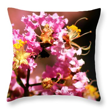 On The Buzz Throw Pillow