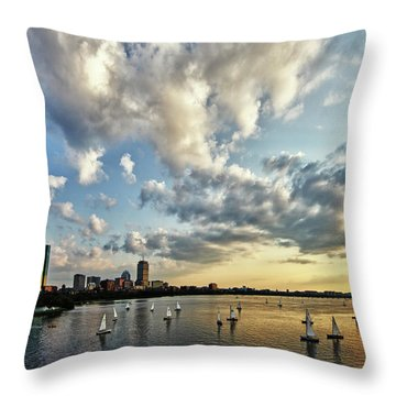 On The Charles II Throw Pillow by Rick Berk
