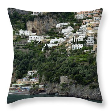 On The Coastal Road Throw Pillow