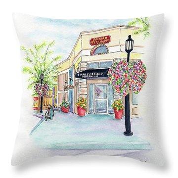 On The Corner Throw Pillow