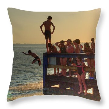 On The Dock 2 Throw Pillow
