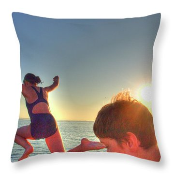 On The Dock 3 Throw Pillow