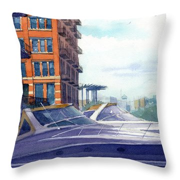 On The Docks Throw Pillow