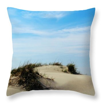 On The Dunes Throw Pillow