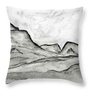 On The East Face Throw Pillow