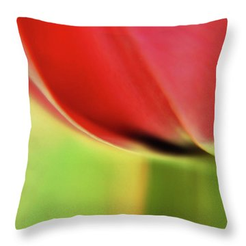 Throw Pillow featuring the photograph  Tulip's  Edge by Elaine Manley