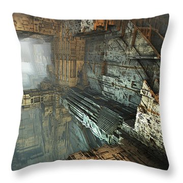 On The Edge Throw Pillow by Hal Tenny