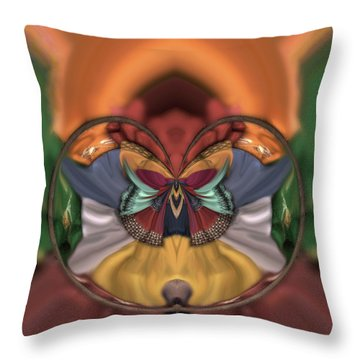 On The Edge Of Chaos Throw Pillow