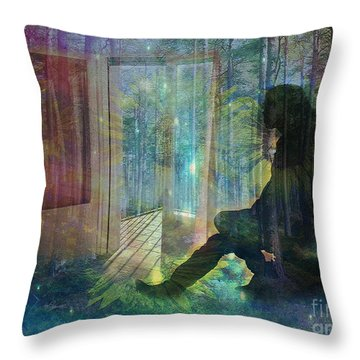 On The Edge Of Summerland 2015 Throw Pillow