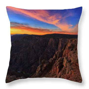 Throw Pillow featuring the photograph On The Edge by Rick Furmanek