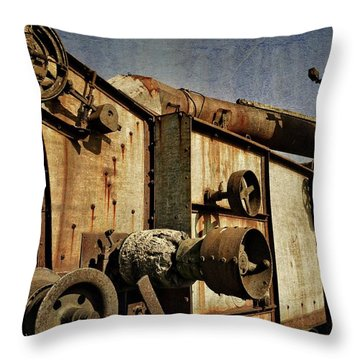Throw Pillow featuring the photograph On The Farm 2.0 by Michelle Calkins