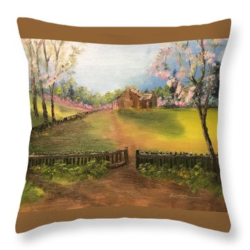 On The Farm Throw Pillow