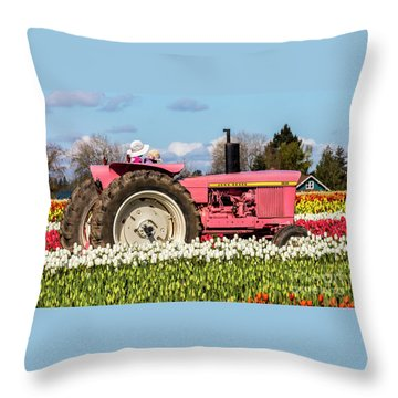 On The Field Of Beauty Throw Pillow
