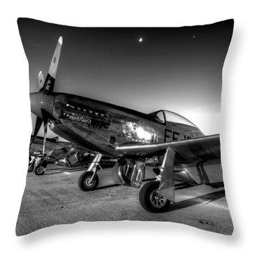 On The Flight Line Throw Pillow