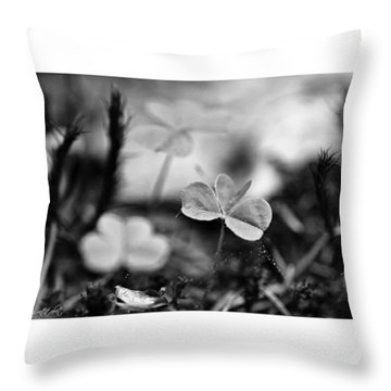 On The Forest Floor  #monochrome Throw Pillow by Mandy Tabatt