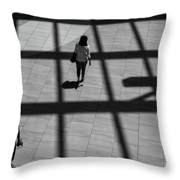 On The Grid Throw Pillow