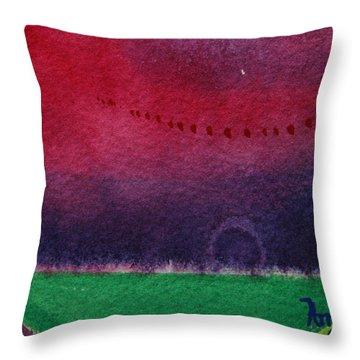 On The Horizon Throw Pillow by Ann Sokolovich