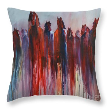On The Horizon Throw Pillow by Cher Devereaux