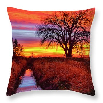 On The Horizon Throw Pillow by Greg Norrell