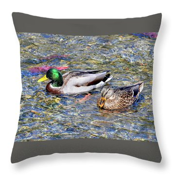 Throw Pillow featuring the photograph On The Hunt by David Lawson