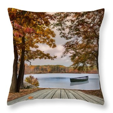 On The Lake Throw Pillow
