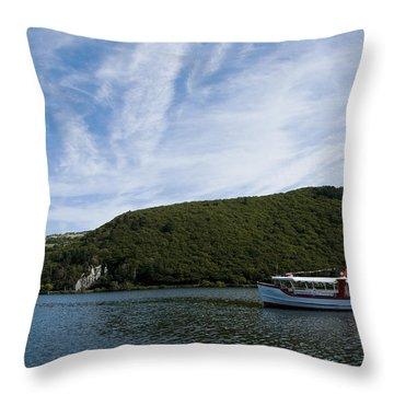 On The Lake Throw Pillow by Svetlana Sewell