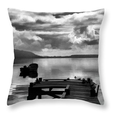 On The Lakes Throw Pillow