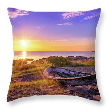 Throw Pillow featuring the photograph On The Last Shore by Dmytro Korol