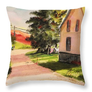 On The Line Throw Pillow by John Williams