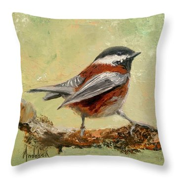 On The Lookout Throw Pillow by Barbara Andolsek