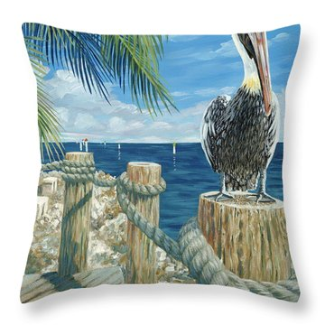 On The Lookout Throw Pillow by Danielle  Perry