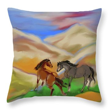 On The Mountian Throw Pillow