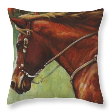 Throw Pillow featuring the painting On The Move by Harvie Brown