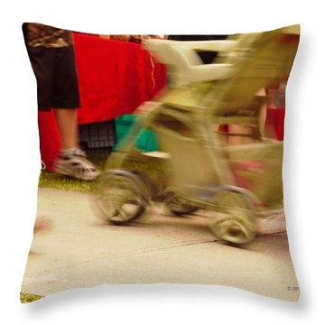 On The Move Throw Pillow by Kae Cheatham
