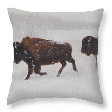 On The Move Throw Pillow by Tammy  Taylor