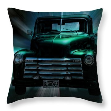 On The Move Truck Art Throw Pillow