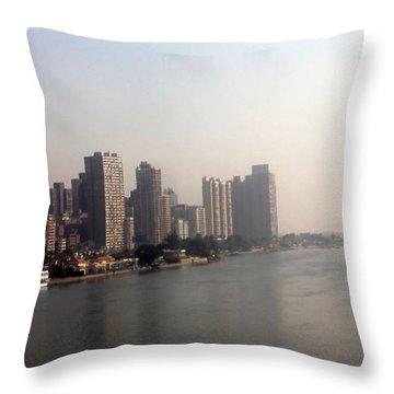 On The Nile River Throw Pillow