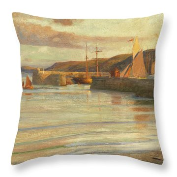 On The North Devon Coast Throw Pillow