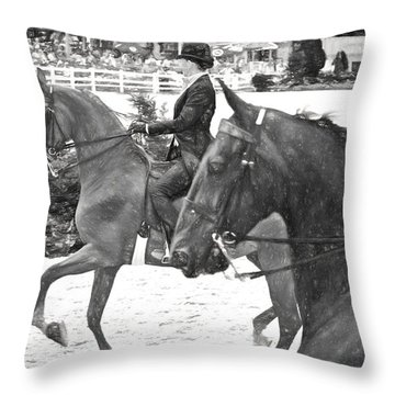 On The Outside Charcoal Throw Pillow