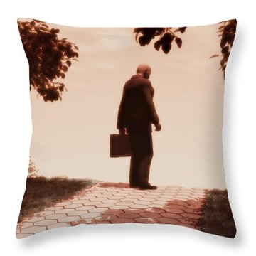 On The Path To Nowhere Throw Pillow